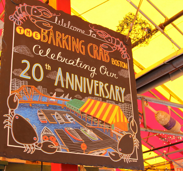 Welcome To The Barking Crab Boston, Celebrating our 20th Anniversary